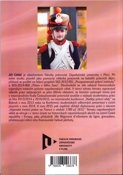 Vojenské trestní právo za napoleonských válek.