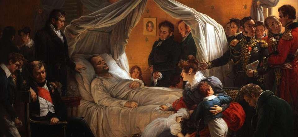 Císařova smrt v Longwoodu 5. kvěnta 1821.