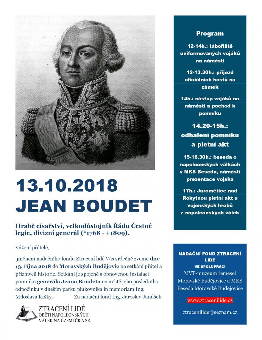 Generál Jean Boudet v Moravských Budějovicích.