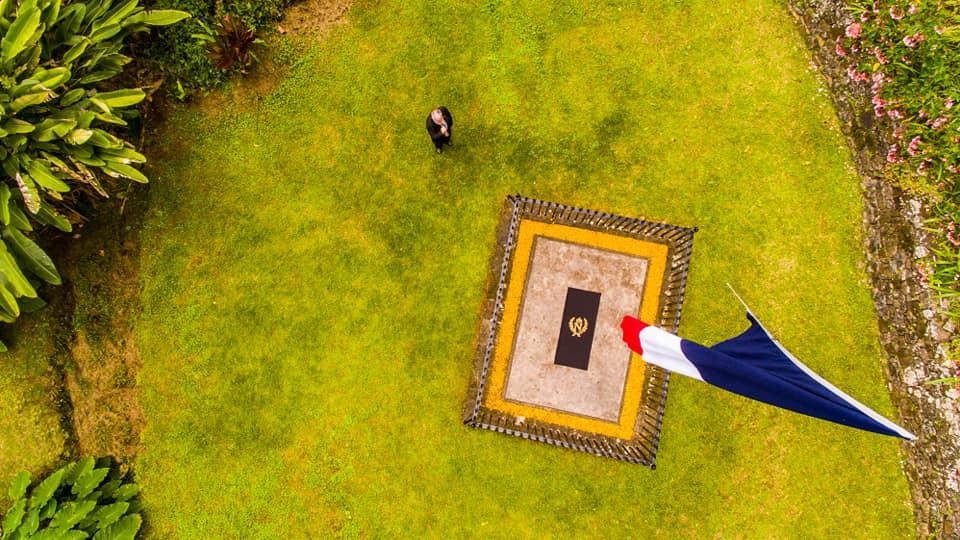 Hrobové místo císaře Napoleona Prvního na ostrově Svaté Heleně.