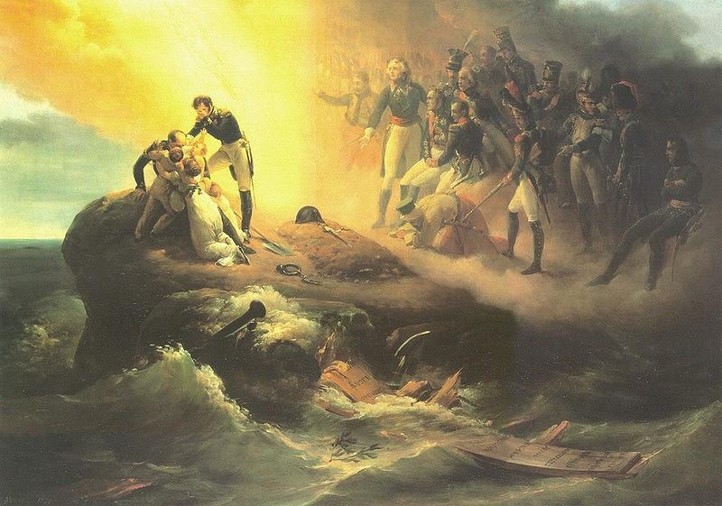 Svatá Helena 1821. Autor Horace Vernet.