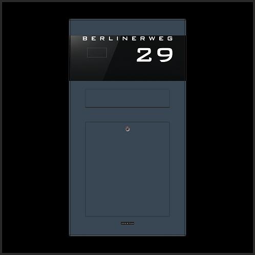 Unterputz-Aufputz Briefkasten TSU 600-RAL 7016 Anthrazit