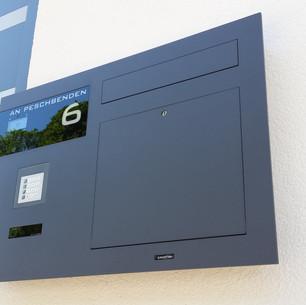 ERCOTEH Unterputz-Briefkasten TSQ 100 mit Legrand Bticino Kamera und Lautsprecher