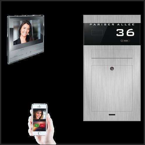Unterputz-Aufputz Briefkasten TSU 600-RAL Edelstahl Video-Türspre