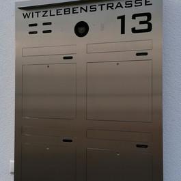 TSQ 600-4 Briefkasten mit Türsprechanlag
