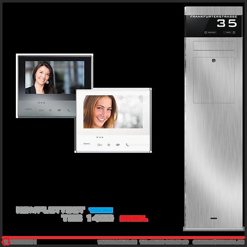 Briefkasten-Stele Standbriefkasten Briefkastensäule mit Video-Türsprechanlage
