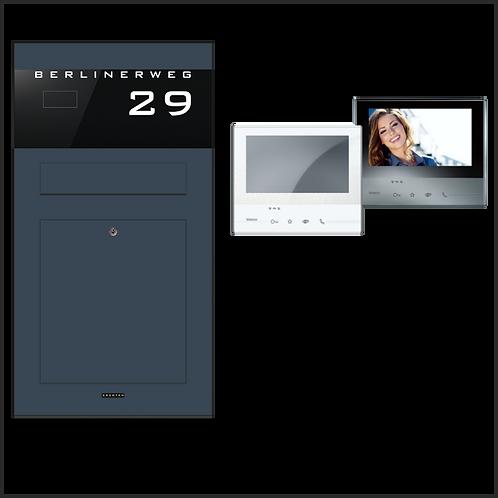 Unterputz-Aufputz Briefkasten TSU 600-RAL 7016 Anthrazit Video-Türsprechanlage
