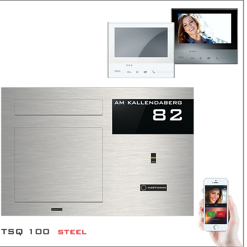 Unterputzbriefkasten Aufputzbriefkasten TSQ 100 Video-Türsprechanlage