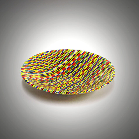 Fused Glass Art Tapestry Bowl | The Glass Rainbow