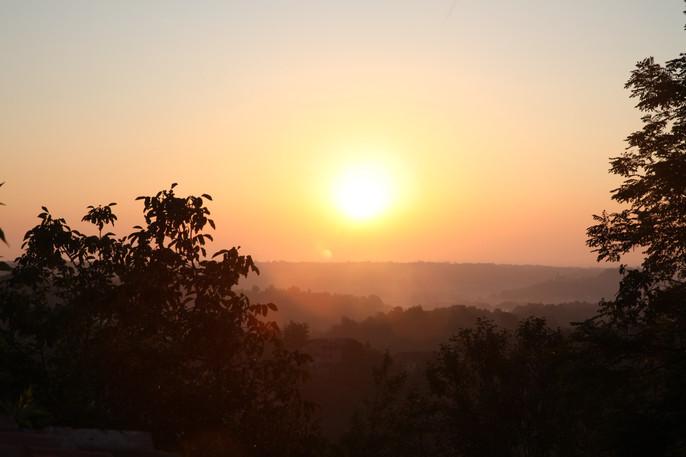 Sunrise from the garden