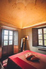 Bedroom in one of the suites in the Manor House