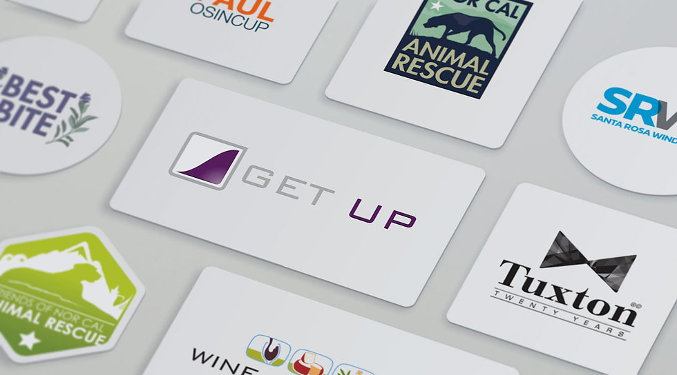Logo design portfolio from sonoma county's best logo design agency.
