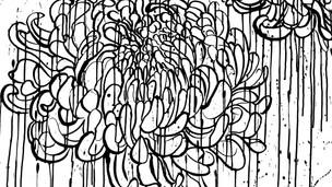 Chrysanthemum 2020 (ink on paper 120x90 cm)