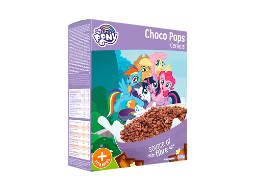 Appy Kids Co My Little Pony  Choco Pops Cereals With Vitamins 200g