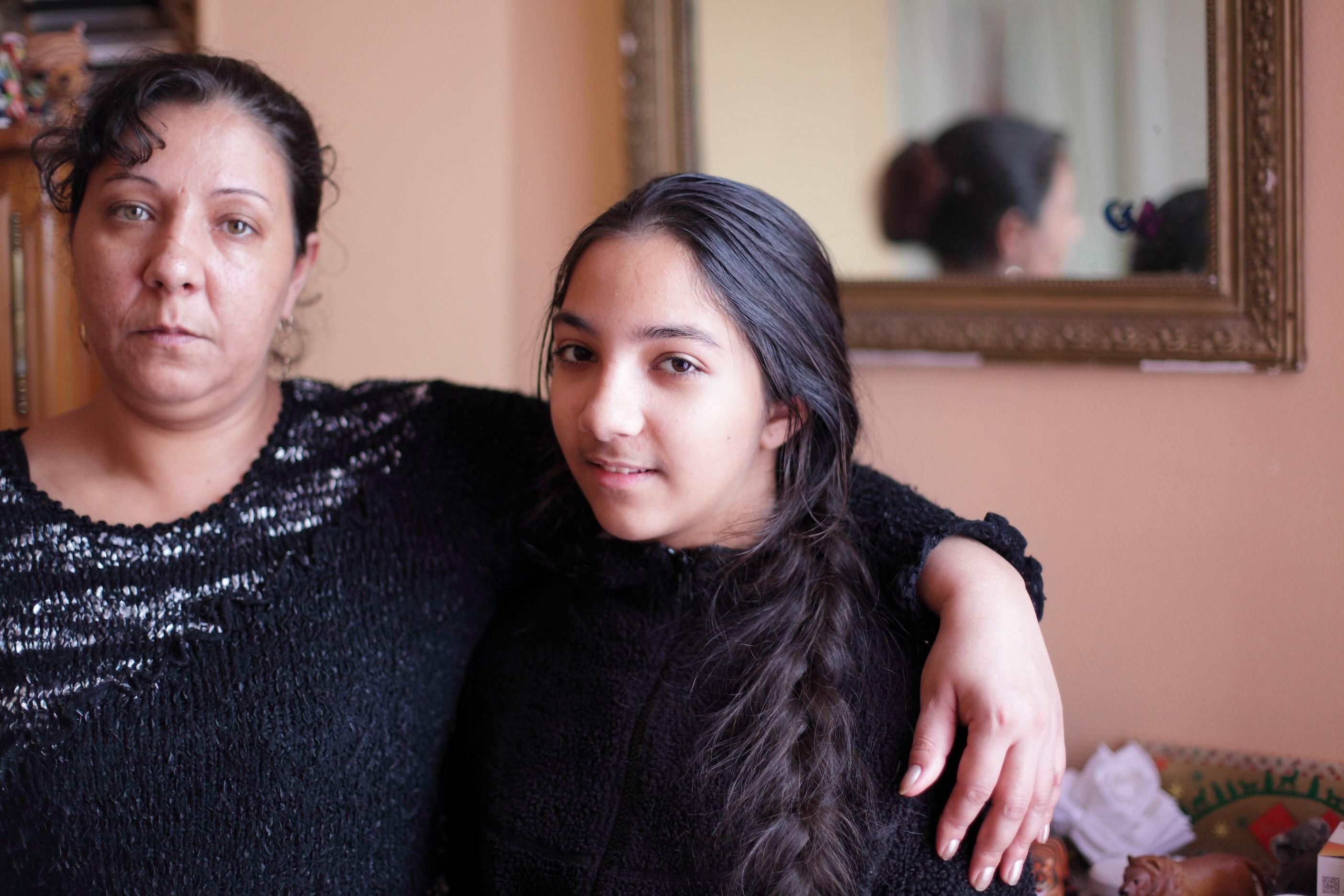 Nicoletta et sa fille ainée Tita