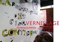 vernissage fresque des 5 continents