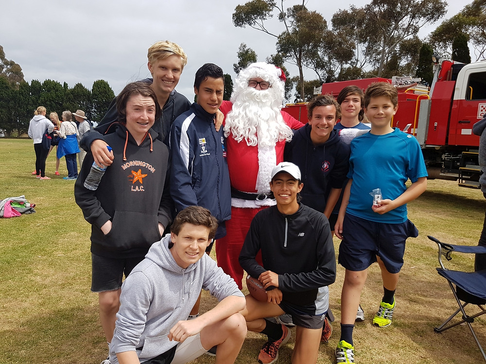 Santa and some of our Open boys