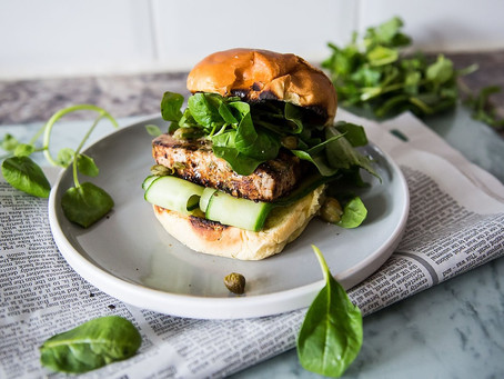 Honey Dijon Tuna Steak Burger
