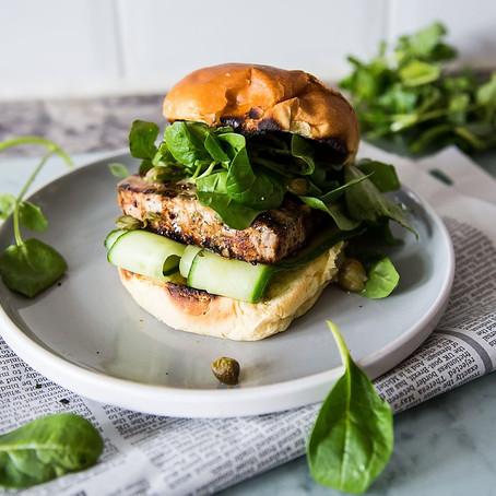 Honey Dijon Tuna Steak Burger