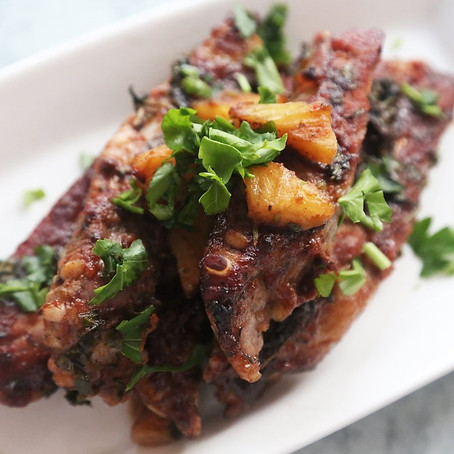 Pineapple and Plum marinated BBQ Spare Ribs