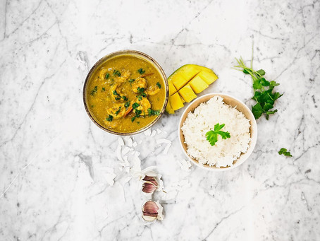 Coconut Mango King Prawn Curry