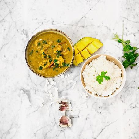 Coconut Mango King Prawn Curry