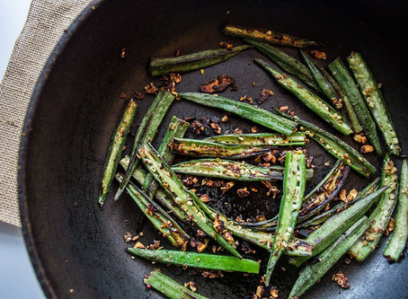 Garlic and Ginger Lady Fingers (Okra)