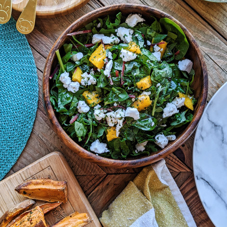 Mango + Dairy-Free Feta Salad