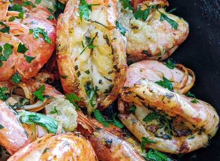 Pan-Seared Garlic Prawns
