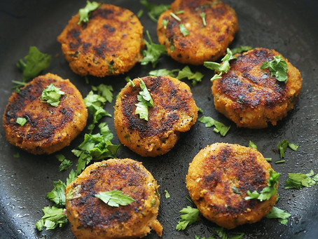 Ripe Plantain & Sweet Potato Fish Cakes