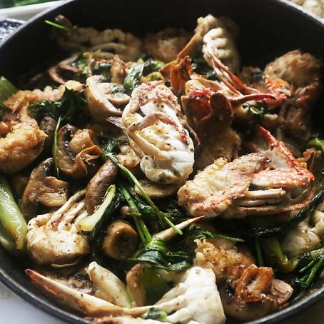 Thai Black Pepper Crab Tempura