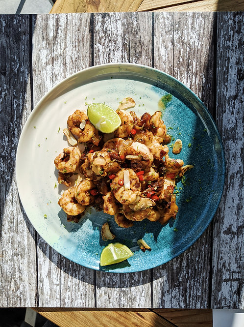 Caramelised Mango Prawns