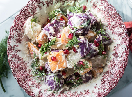 Rainbow Sweet Potato Salad