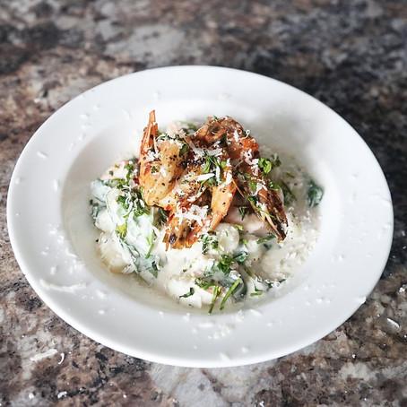 Creamy Mushroom & King Prawn Gnocchi