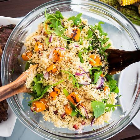 Organic Grilled Butternut Squash Cous-Cous Salad