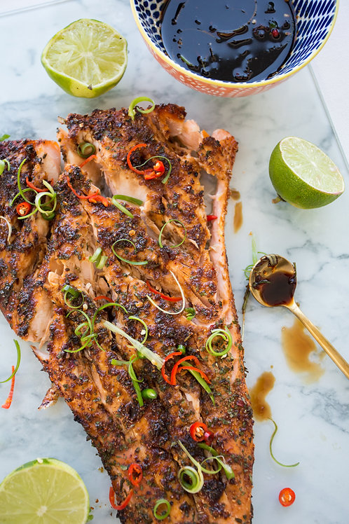 Honey Ginger Spicy Salmon Side