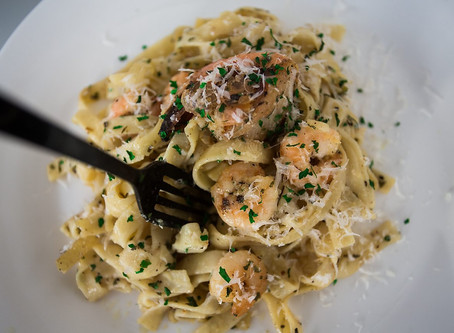 Garlic Butter King Prawn Pasta