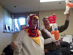 Denver Singing Telegram balloon  Chicken, Lakewood Singing Telegram balloon Deli