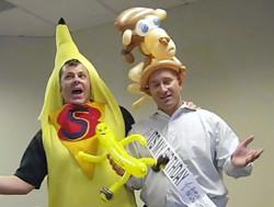 Denver Balloon Delivery Monkey Dancing Denver Singing Telegram Giant Banana.jpg