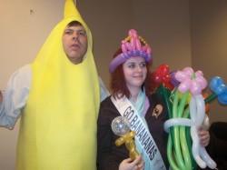 Denver Balloon Delivery Flowers Crown & giant Banana Denver Singing Telegram.jpg