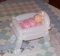 Denver Baby shower Centerpiece balloon baby crib 2.jpg