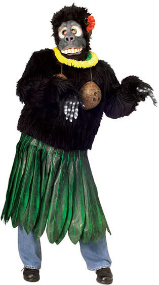Hula Gorilla Denver Singing Telegram costume.jpg