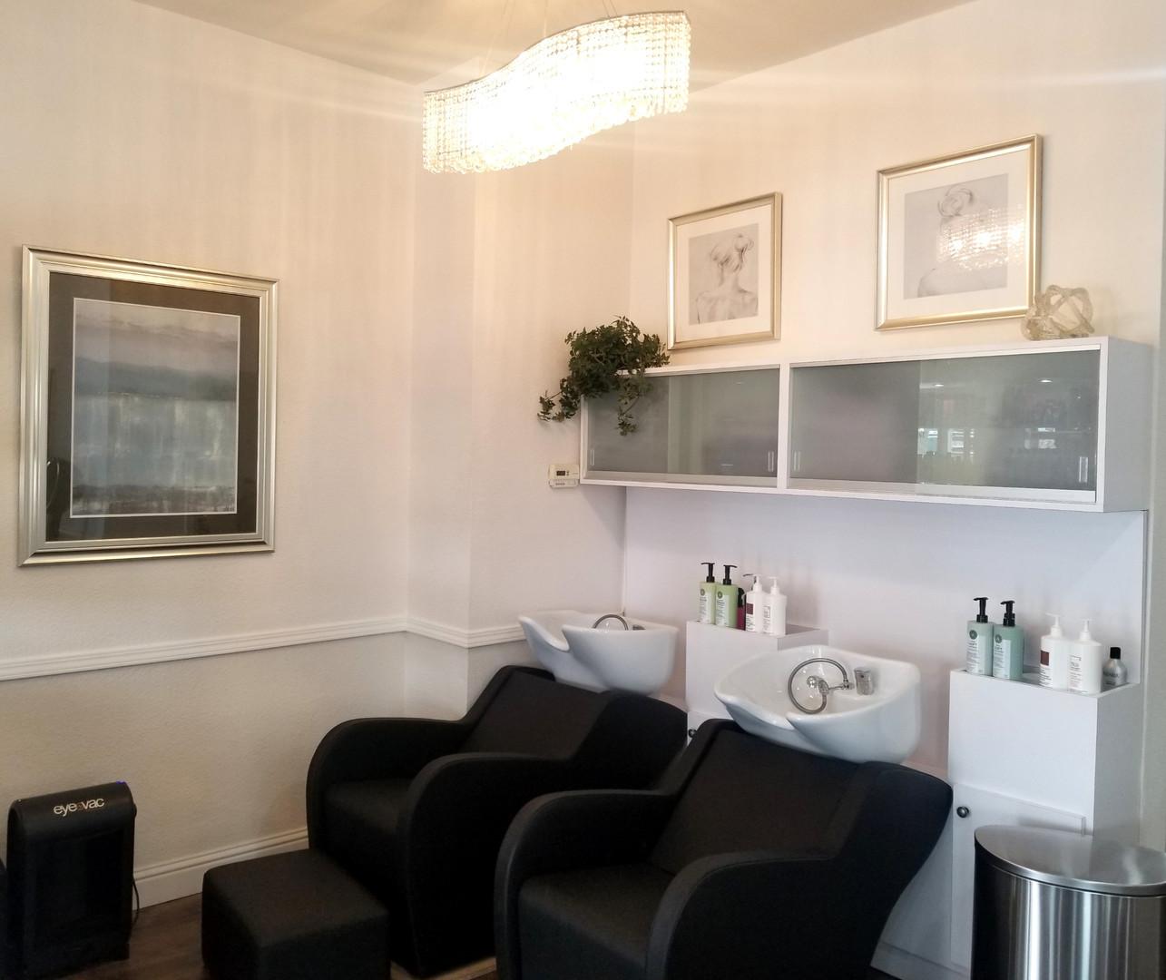 Signature Salon Shampoo Area