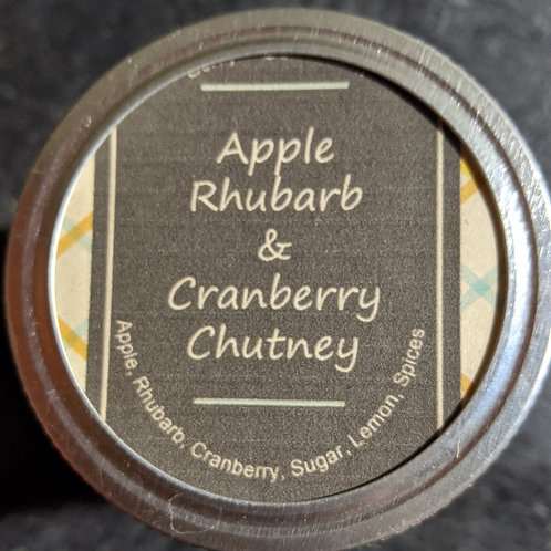 Apple, Rhubarb & Cranberry Chutney