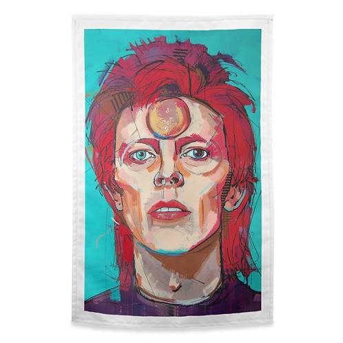 """Instant Star"" - David Bowie Tea Towel"