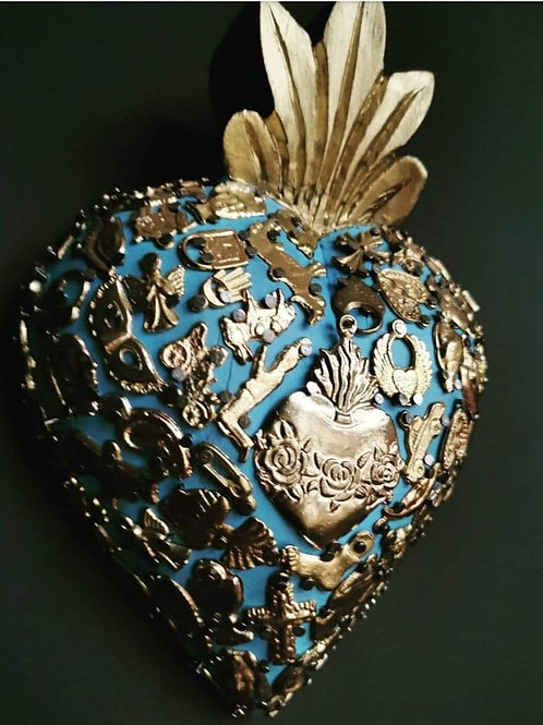 Classic Sacred Mexican Heart