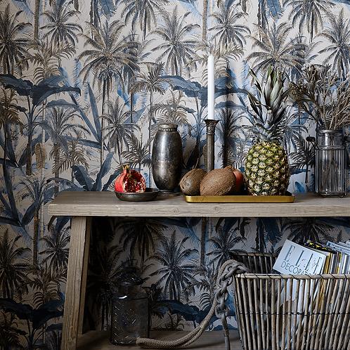 Jungle smoke blue wallpaper