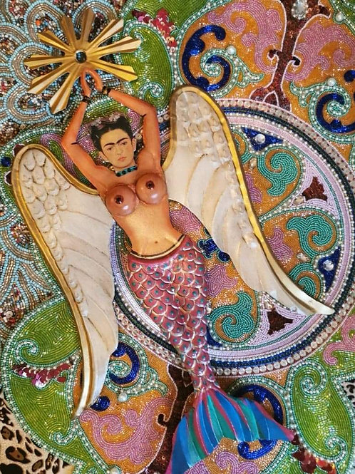 Frida Mermaid Wall Decoration - Pink