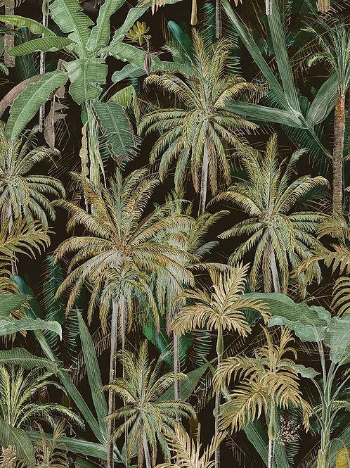 Jungle anthracite wallpaper