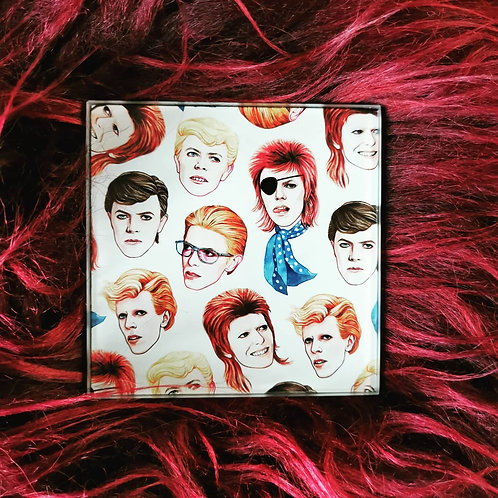Fabulous Bowie - Glass coasters set of 4
